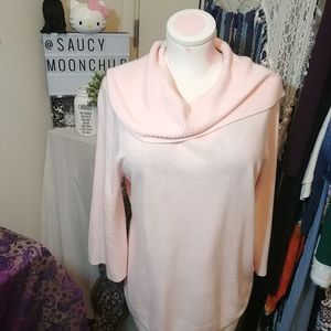 SAG HARBOR | cowl neck 3/4 sleeve sweater